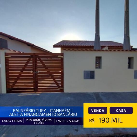 Casa Nova Lado Praia No Tupy Em Itanhaém Litoral Sul De Sp
