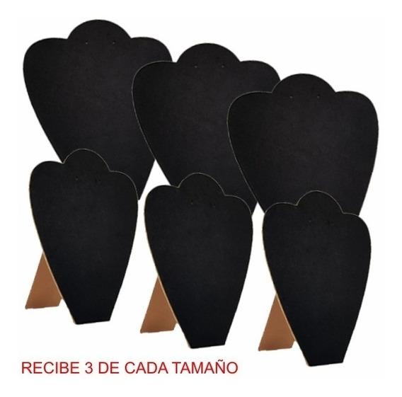 Seis Exhibidor Joyeria Cuello Corazon 811v 812v