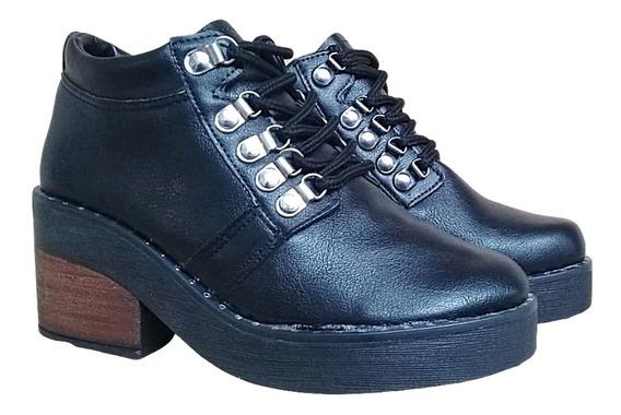 Borsego Acordonado Dama Savage Bota Mujer Zapato Moda Livian