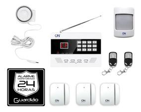 Kit Alarme Residencial Sem Fio - Guardião Plus