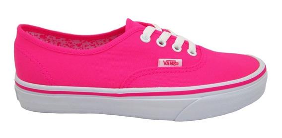Tenis Vans Authentic Vn0a38emmlu Neon Splatter Neon Pink