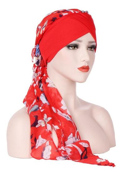 Boné De Impressão Floral Wrap Mulheres Chapéu Bohemia Tur