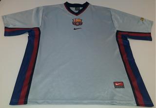 Camiseta Do Barcelona Cinza Nike 2000 Ótimo Estado - 8p