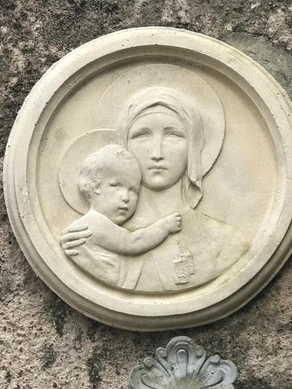 Imagen Religiosas Piedra Paris Martineau,virgen Con Niño