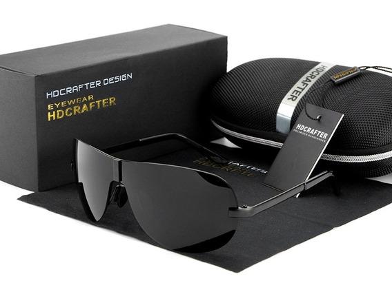 Óculos De Sol Hdcrafter Aviador Polarizado Uv400 Original -