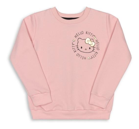 Blusão Bebê Moletom Hello Kitty