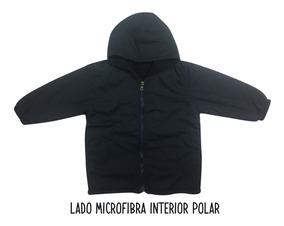Camperón Colegial Reversible Microfibra/polar Talle 10-12-14