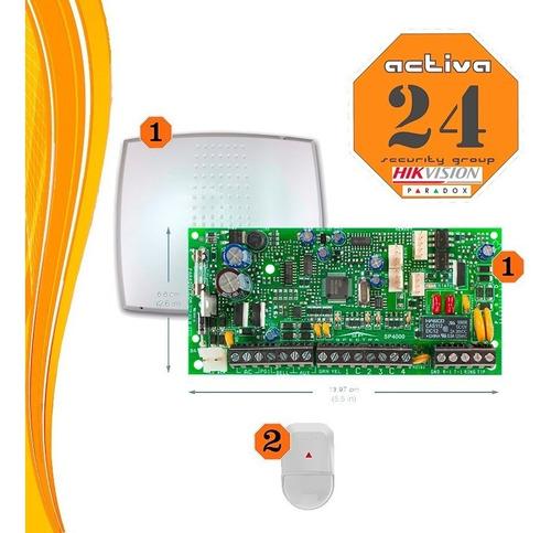 Alarma Domiciliarias Central 4 A 32 Zonas +2  Sensores