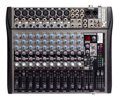 Consola Mixer 12 Canales Con Ecco 16 Efec Mic Auric Dancis
