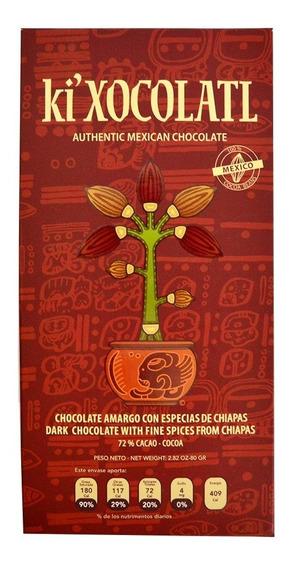 Ki Xocolatl Rojo Al 72% Cacao Especias, Natural, Orgánico