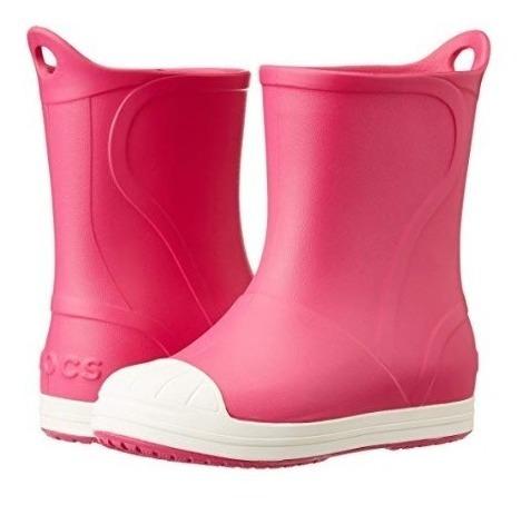 Botas De Lluvia Crocs Bump It Boot Niño Rosa/ Bl 2035156mi