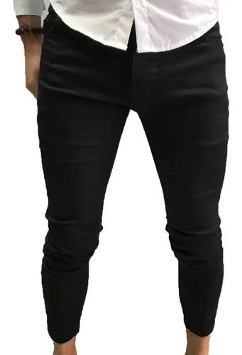 Pantalon Jean Gabardina Hombre Farenheite Negro Elastizado Mercado Libre