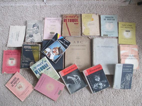 Lote Com Antigos Livros Sobre Fotografia