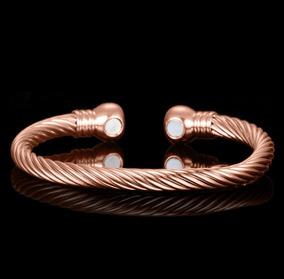 Pulseira Bracelete Cobre Magnética Feminina Luxo Top Saúde