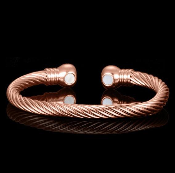 Pulseira Bracelete Cobre Magnética Luxo Top Saúde