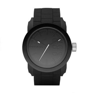 Diesel Dz1437 Double Down Black Silicone Watch Para Hombr
