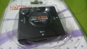 Switch Hdmi. Conecta Até 03 Aparelhos A Sua Tv