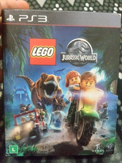 Jogo Ps3 Box Lego Jurassic World + Filme