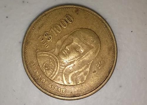 Moneda Mexicana De $1000 - Sor Juana Años 88, 89 Y 1990