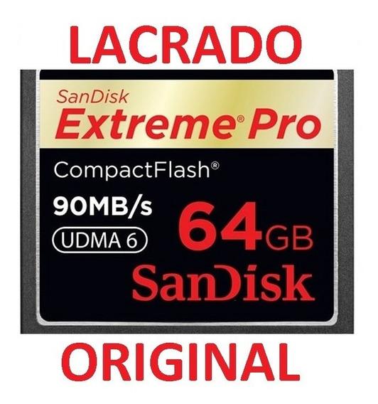 Compact Flash Cf 64gb Sandisk Extreme Pro 600x 90mb/s Udma 6