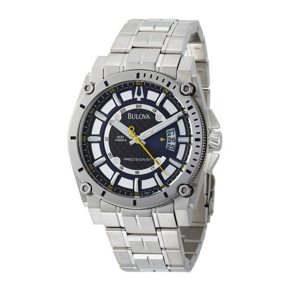 Relógio Bulova Masculino Precisionist Wb31014a Aço Azul