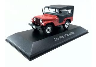 Miniatura Jeep Willys Cj5 1963 Metal Escala 1 43 Colecao