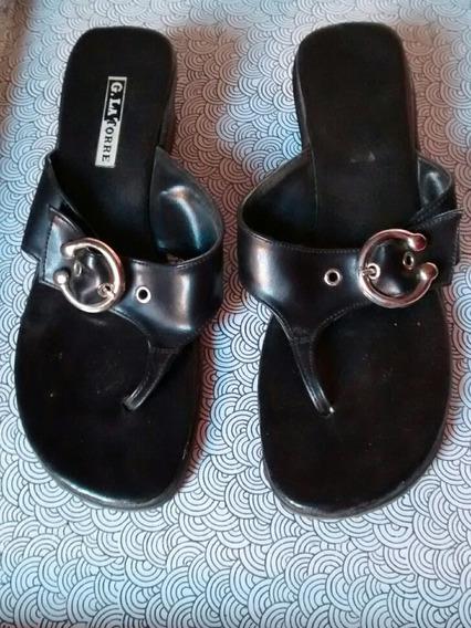 Sandalias Mujer Negras Con Hebilla