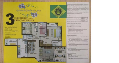 Apartamento 125m_cota 388 Grupo 11 Cooperativa Vida Nova