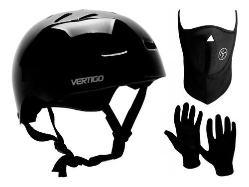Imagen 1 de 6 de Casco Bicicleta Skate Rollers Vertigo Vx + Guantes + Mascara
