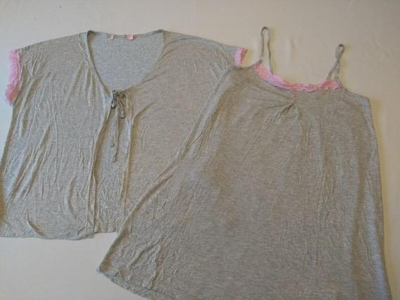 Camisola Feminina Maternidade Com Cardigan Ref.p88! Novo