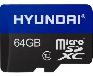 Memoria Micro Sd 64gb Hyundai Clase 10 C/adaptador Celulares