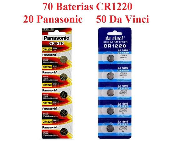 70 Bateria Lithium Panasonic Original E Da Vinci Cr1220 3v