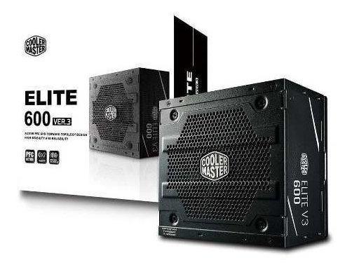 Fonte Cooler Master 600w Elite Power V3.
