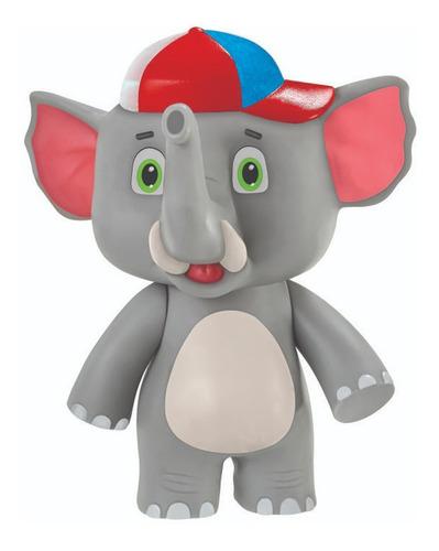 Elefante De Brinquedo Turma De Giramille 20cm Grande Tromba