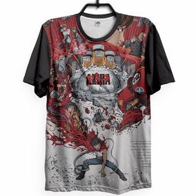 Camiseta Full Akira Filme Anime Geek Camisa Nerd Psicodélico