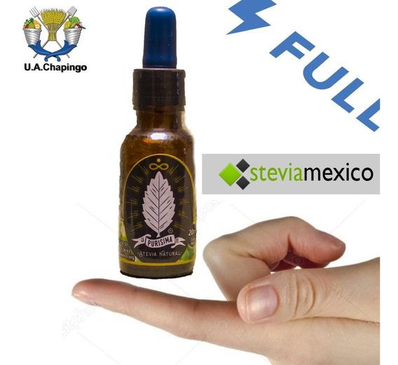 Stevia Líquida En Gotero De 20 Ml. La Purisima --envio Full