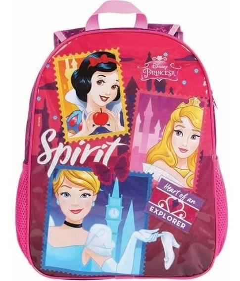Mochila Escolar Princesas Infantil Meninas Disney Rosa