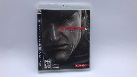 Metal Gear Solid 4 - Ps3 - Midia Fisica Em Cd Original