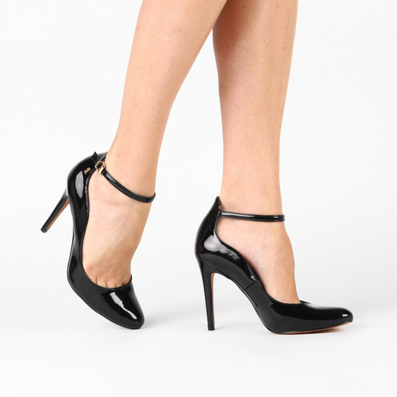 Sapato Scarpin Feminino Preto Verniz Luxo Salto Alto 10 Cm