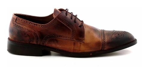 Zapato Cuero Hombre Briganti Acordonado Suela - Hcac00817 Dk