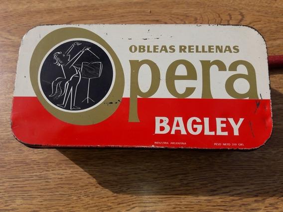 Antigua Lata Coleccion Galletitas Bagley Opera!!!