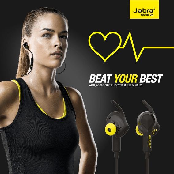 Fone Bluetooth Jabra Sport Pulse C/ Monitor Cardíaco Lacrado