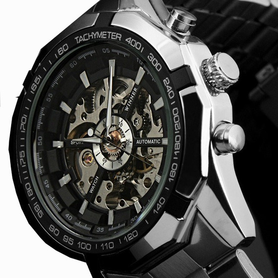 Relógio Masculino Winner Skeleton Automático Barato Oferta