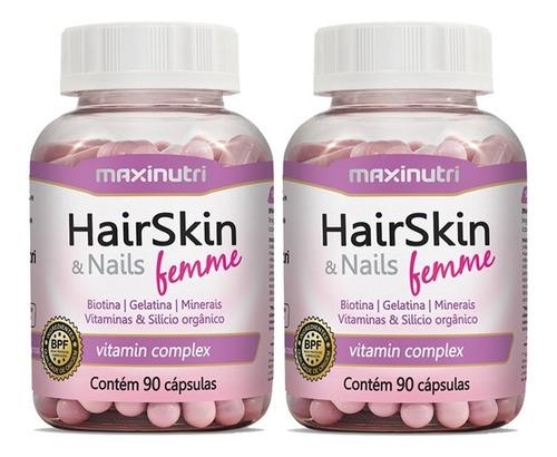 Imagem 1 de 5 de Hair Skin & Nails Femme Maxinutri 2x90cps # Cápsulas Beleza