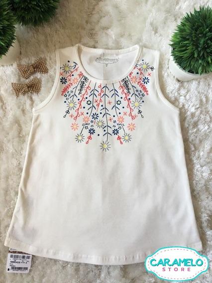 Camiseta Blusa Infantil Menina Carinhoso Tam 1, 2 E 6