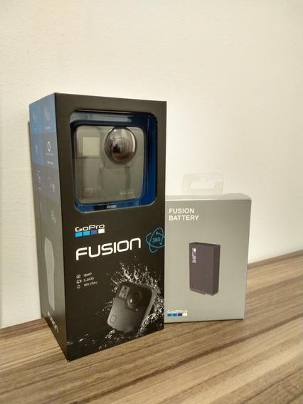 Go Pro Fusion 360° Zerada - Um Único Uso - Bateria Extra