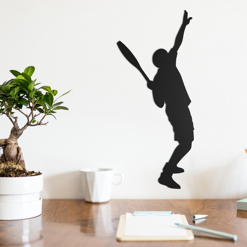Quadro Decorativo Parede Esporte Tenista 30cm