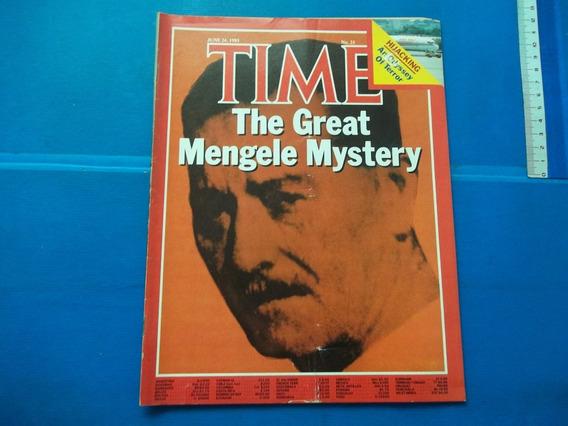Revista Time The Great Mengele Mistério Mystery Nr 25 1985