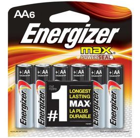 Pilha Alcalina Aa 1,5v Max Energizer Cartela Com 6 Pilhas P