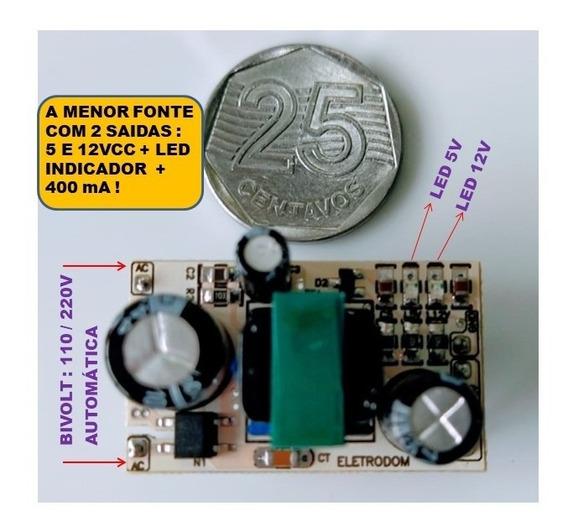 Mini Fonte, Arduino, Esp8266, Esp32, Ac Dc 5v 12v Step Down